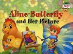 Бабочка Алина и ее картина. Aline-Butterfly and Her Picture. 1 уровень
